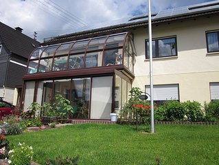 Apartment with winter garden in the middle of the Sauerland region for young an