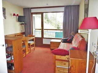Arcs 1800, appartement 4 personnes ,1 chambre , piscine