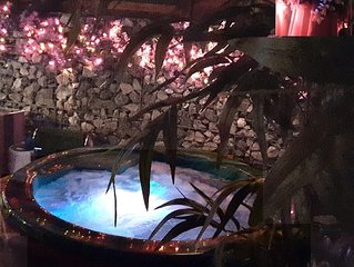 Hot-Tub waiting - Romantic all Seasons.  Just add a loved one and a Bottle of Wine
