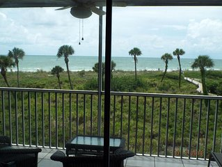 1 bed 1 bath sleeper sofa ON the beach no roads to cross screened patio elevator
