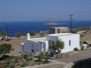 Chora villa 1 with unique sea view