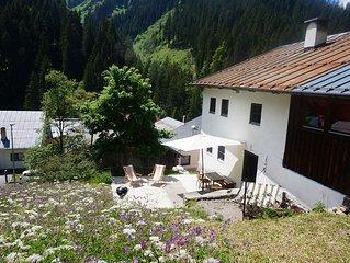 250 year old farmhouse, small mountain village, Tyrol, Zugspitzarena, Austria
