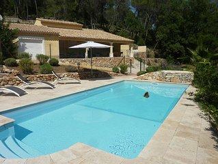 Villa de 160 m2 pour 8 personnes surplombant Draguignan en pleine foret
