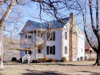 Modern farmhouse at Meadow Lane - 500 acres along Jackson River - Peace, Love, T