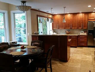 All the comforts of home - 6 large bedrooms, new kitchen, big screen TV,  porch.