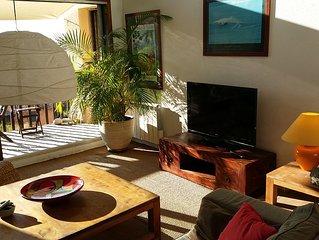 Appartement lumineux en Duplex ,vue mer a 200m de la plage de la chambre d'Amour