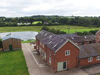 Spacious comfortable converted barn with character in peaceful surroundings.