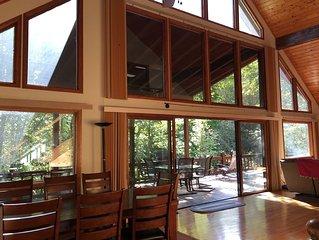 'Rivers Edge' Waterfront,  Mountain Cabin / Lodge, on Big Snowbird Creek