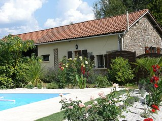 A beautifully, comfortable, tranquil, gite with private pool; sorry no children