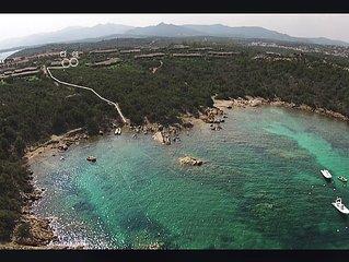 Cala Paradiso, Capo Coda Cavallo, spiaggia 150 m, posto barca, gite in gommone