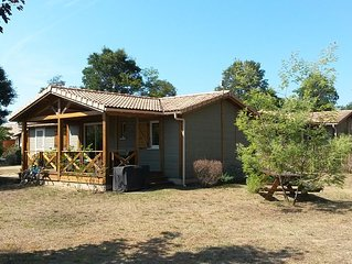 CHALET 5 P 53 sqm CALM WITH GARDEN 600 sqm IN A PARK CLOSED TO FOREST