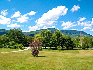 Beautiful Views of Mt Equinox at the Green Mountain Studio