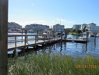 ON THE WATER!  Sound side condo with a view of the ocean!