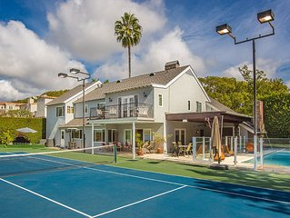 Beverly Hills 5 Bed Estate • Walk to Rodeo Drive • Tennis Court & Heated Pool
