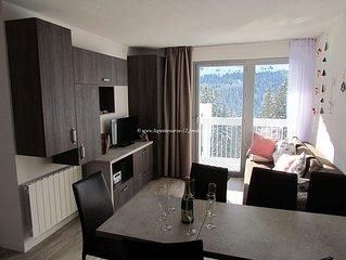 Flaine apartment 3 very comfortable rooms with south balcony sheets