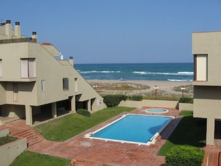 Apartment in modern style with communal swimming pool and near beach