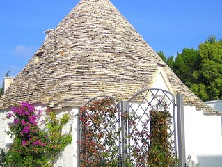 an authentic trullo in Alberobello.