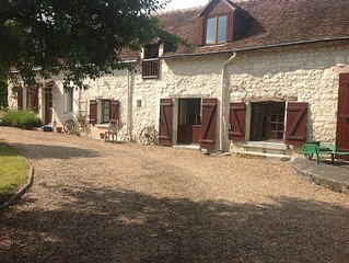 Detached large farmhouse in secluded garden with heated private swimming pool.