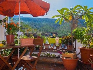 'La casilla', vivienda vacacional con terraza y en el casco antiguo de Agaete