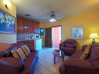 Comfortable 1 Bedroom Executive Suite/ 201 (end unit on the 2nd floor).