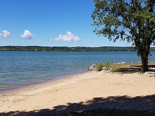 Lake Leelanau Waterfront Cottage with Mini Harbor - Close to Traverse City!