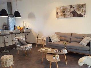 t3 ds maison de ville  jardin/patio tout équipé à Perpignan.