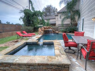 Three story house with heated pool and hot tub located one mile from downtown