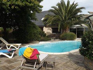 Maison avec piscine chauffee pour 8 personnes