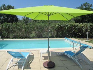 4 bedroom villa, air conditioning, garden, pool, quiet 3 min center Taradeau