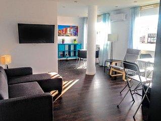 Moderne neurenovierte 3-Zimmer-Wohnung mit Ausblick im Herzen von Palma Altstadt