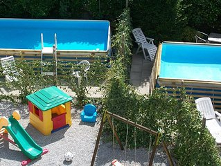 In  Tuscany, near Florence, sleeps 4, 2 pools wi fi, parking