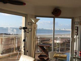 appartement  standing vue ecxeptionnelle sur la baie de la baule parking prive