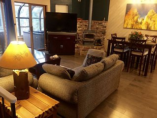 Beautifully remodeled 2 bedroom condo with hot tub—ideal location. Pet friendly