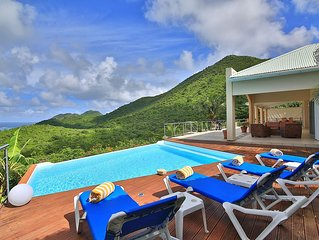 BLUE PEARL...Such a deal!! Beautiful villa, gorgeous views, and 5 minutes from, Grand Case