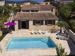 Villa avec piscine chauffee a Ajaccio