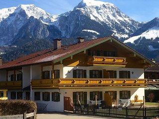 Sonnige Wohnung am Konigssee mit Bergblick