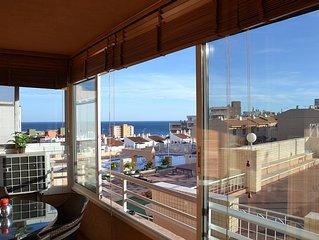 Acogedor apartamento con vistas al Mar, en Urbanizacion con piscina