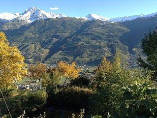 Soleil-casa vacanze in collina di Aosta