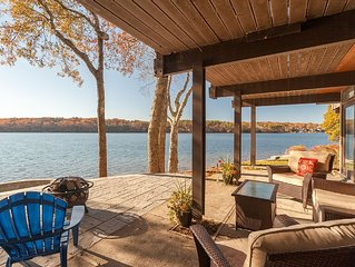 Exceptional Lakefront 'Deck' House with incredible water views!