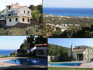 Villa'Iliothea' Private stay,Milatos Crete,large pool,Sea view up to 15 people