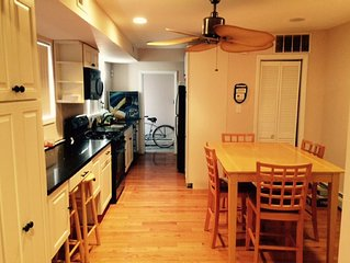 2 Bedroom, 1 1/2 Bath Home conveniently located right off boardwalk! Sleeps 8-10