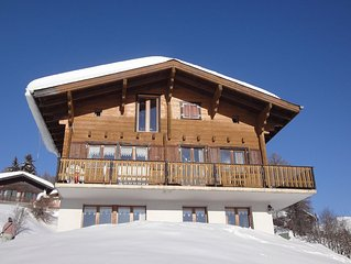 Apartment with overwhelming mountain views in ski resort, near Aletschglacier