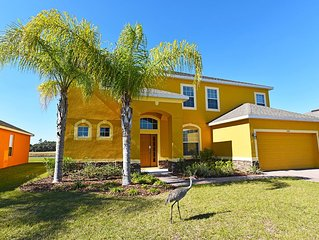 Beautiful 5 Bed Gated Pool Home At Watersong Resort From $135/nt!