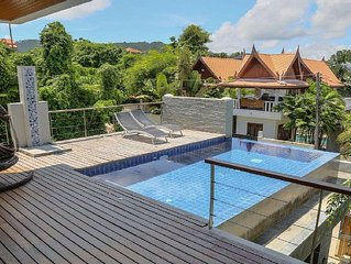 8 Bedroom Ocean View Villa in Rawai.  3 swimming pools, zip line