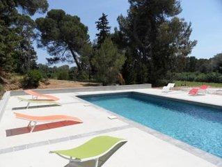 Appartement dans une maison de caractere avec piscine a 5Km de Meze en plein coe
