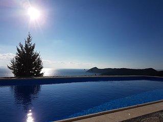 Artemis,Breathtaking view, Schinias, Athens!Entire home/pool/EOT0208Κ***********