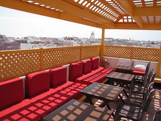 In the heart of the medina, this house can accommodate up to 17 pax, wi-fi,light