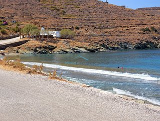 Original stone built house on the waterfront with access to a large sandy beach