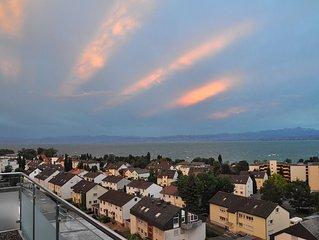 Penthouse Ferienwohnung Apartment 'Attika Süd' mit Blick über den Bodensee