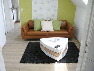 Ferienwohnung mit Terrasse und besten Bedingungen für erholsamen Schlaf